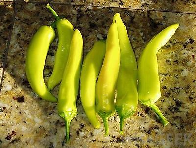 Pepper Seeds - HUNGARIAN YELLOW HOT WAX - Canary Yellow Chili - 40 Seeds